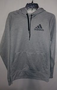 Adidas Climawarm Mens Gray Hoodie Team Issue Sz S